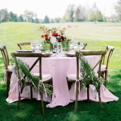 Pink and Red Wedding Table