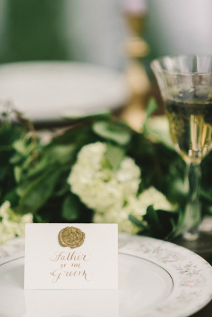 Place Card with Wax Seal
