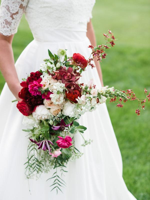 Red Cascade Bouquet
