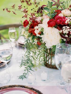 Red Wedding Flowers