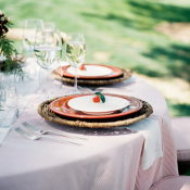Red and Brown Wedding China
