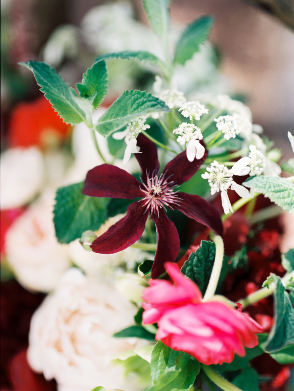 Red and Pink Wedding Flowers