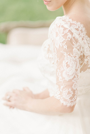 Sarah Seven Gown with Lace Sleeves