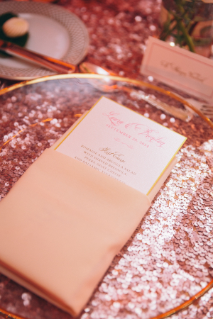 Sequin Pink Wedding Linen