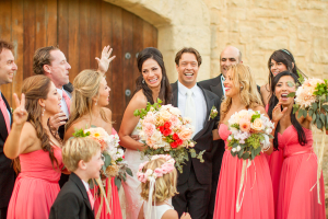 Wedding Party in Coral