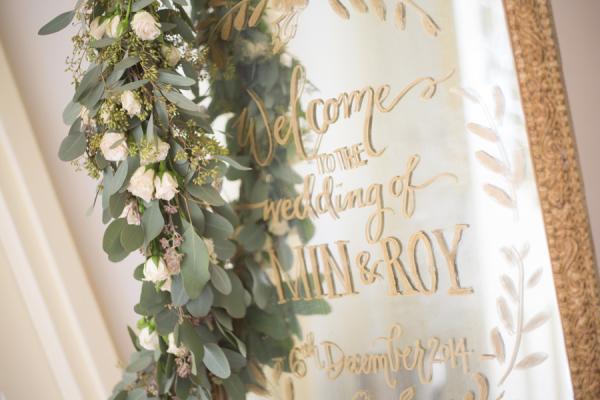 Wedding Sign on Mirror