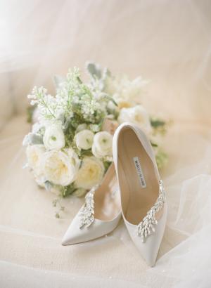White Bridal Manolo Blahniks