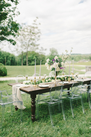 Wood Wedding Table with Ghost Chairs