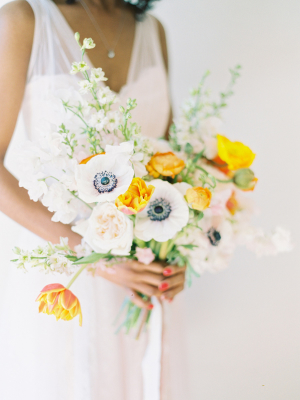 Yellow Bouquet with Anemones
