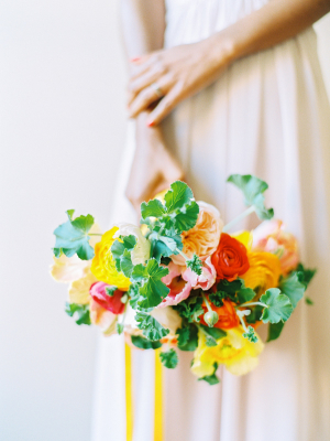 Yellow Orange and Green Bouquet