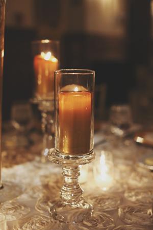 Amber Pillar Candles