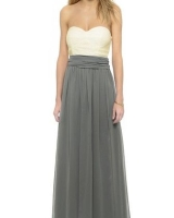 Ava Long Convertible Dress Gray