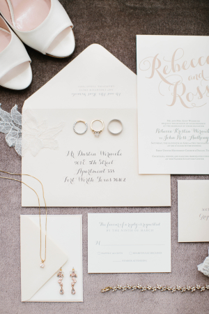 Blush and White Wedding Stationery