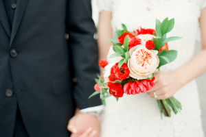 Bouquet with Pink and Red Flowers