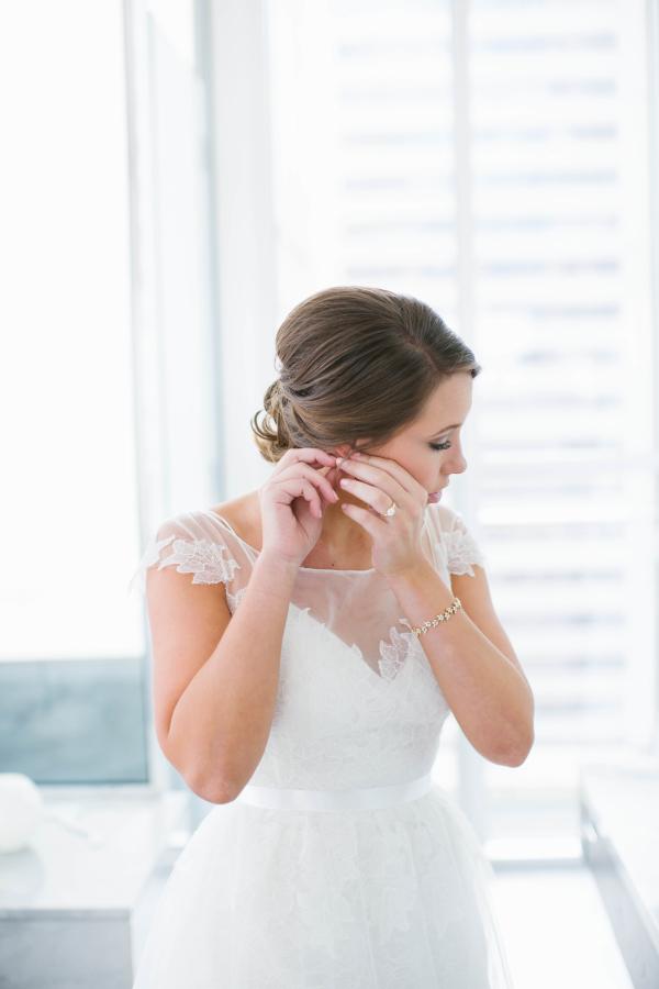 Bride Wearing Watters