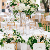 Bride and Groom Flower Chair Garland