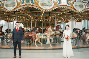 Bride and Groom by Carousel