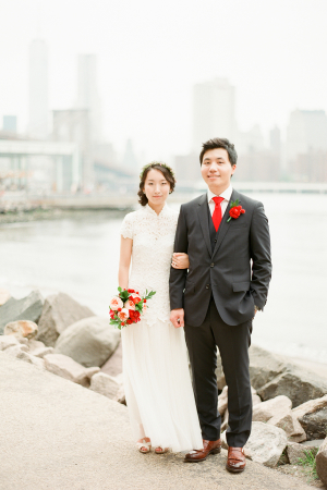 Bride and Groom in Brooklyn