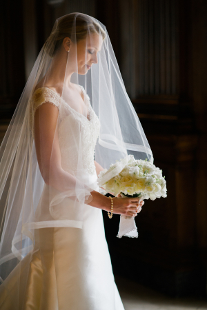 Bride in Fingertip Veil