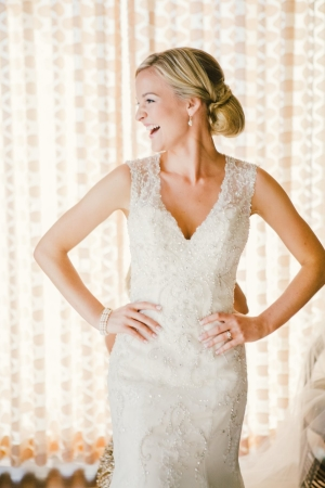Bride in Lace Gown
