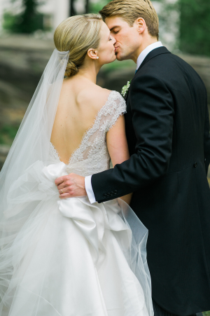 Bride in Pronovias La Sposa Gown
