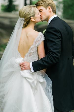 Bride in Pronovias La Sposa Gown