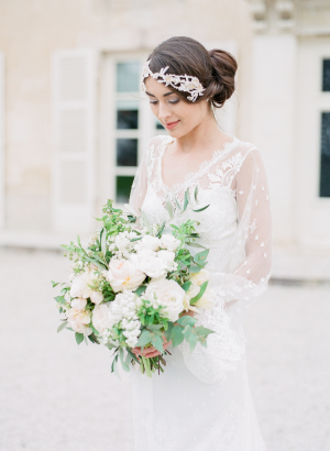 Bride in Wedding Dress with Sleeves