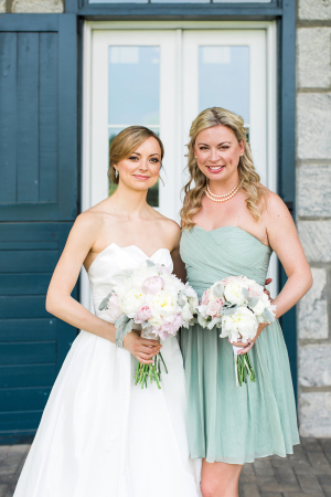 Bridesmaid in Mint Dress