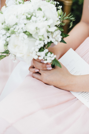 Bridesmaid with Ivory Bouquet