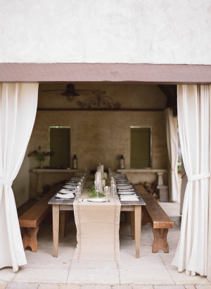 Brown and Taupe Wedding Table