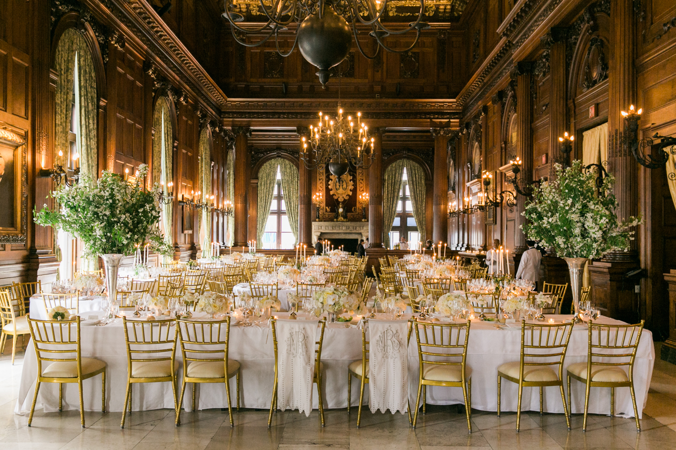 Elegant gold and white wedding elizabeth anne designs for Small nyc wedding venues