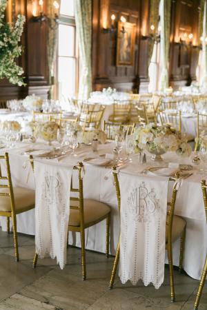 Elegant Ivory and White Reception