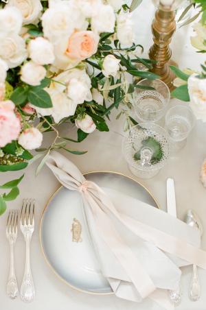 Elegant Pastel Place Setting