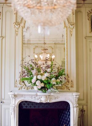 French Chateau Wedding Mantel