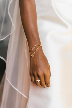 Gold Bracelet on Bride