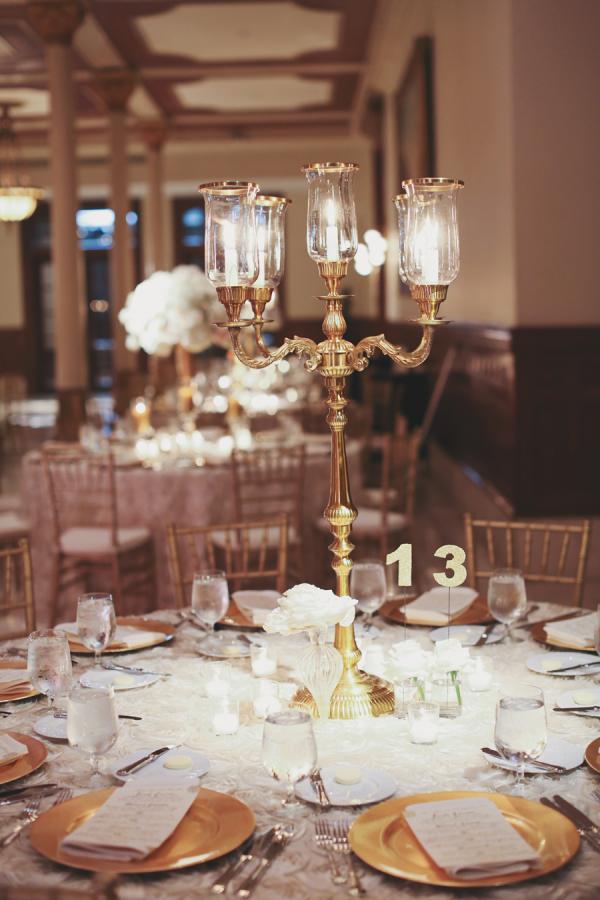 Gold candelabra centerpiece elizabeth anne designs the