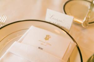 Gold Wedding Menu