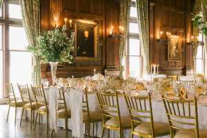 Gold White and Green Reception