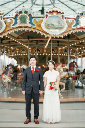 Groom and Bride by Carousel