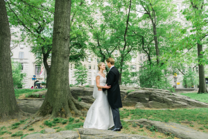 Groom and Bride in Central Park