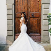 Ines Di Santo Gown with Train