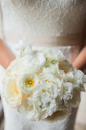 Ivory Peony and Rose Bouquet