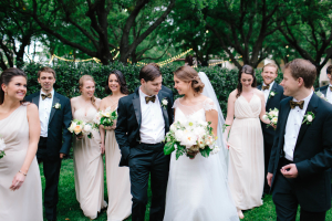 Ivory and Black Bridal Party
