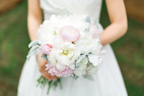 Ivory and Blush Peony Bouquet