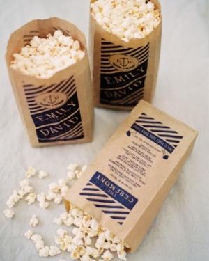 Kraft Paper Ceremony Popcorn Bags