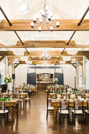Modern Rustic Wedding Reception