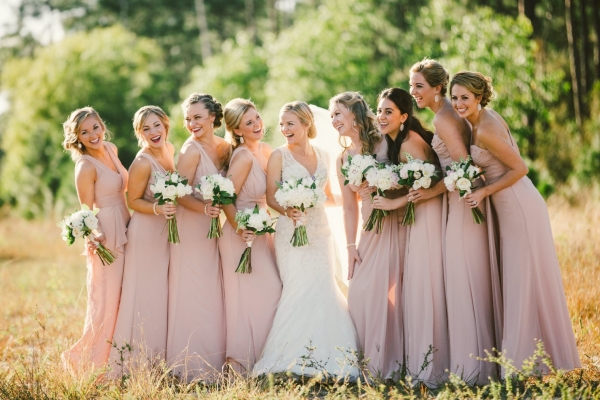 Pale Mauve Bridesmaids Dresses