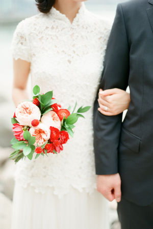 Pale Pink and Red Bouquet