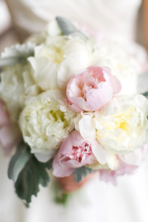 Pink and Ivory Peony Bouquet