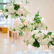 Pink and Ivory Wedding Decor